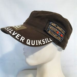Quicksilver | green/brown army style patch cap